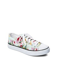 Floral Rubber Toe Canvas Sneaker