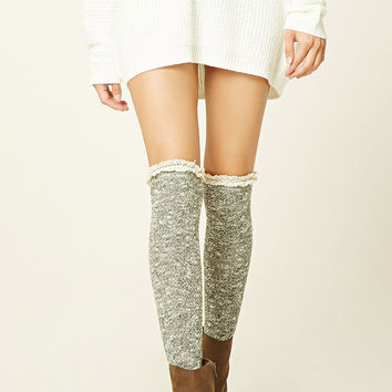 Knee-High Ribbed Knit Socks