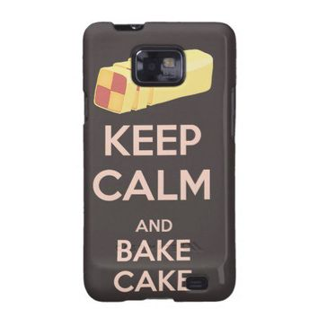 Keep Calm and Bake Cake Vintage Poster Samsung Galaxy SII Case from Zazzle.com