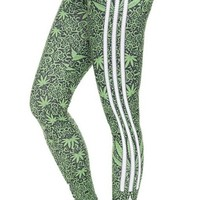 Stripe weed leggings