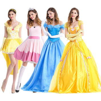 Costume Cosplay Blue Prom Dress [8979068423]