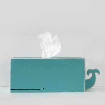 Whale Tissue Holder Cyan by gnomesweeeetgnome on Etsy