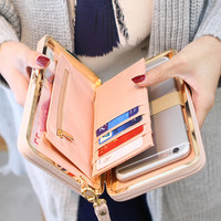 New Arrival 2017 Fashion Wallets Women Long Design Cute Bowknot Large Capacity Lunch Box Ladies Wallet Purse Clutch Casual Hasp