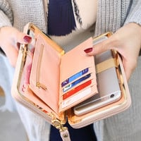 Purse wallet card holders cellphone pocket gifts for women money bag clutch