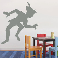 Peter Pan Decal WALL STICKER Silhouette Home Decor Art ST97
