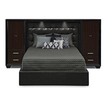 Serenity King Wall Bed with Piers