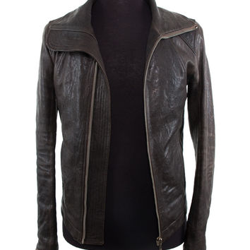 Chocolate Leather Moto Jacket