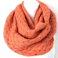 Women's Chunky Knit Scarf, Knit Infinity Scarf, Honeycomb Scarf, Knitted Infinity Scarf, Loop Scarf, Fall Scarf, Knitted Cowl, Knit Snood