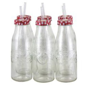 Coca Cola Country Classic 6 Piece 15 oz Bottle Glass Set