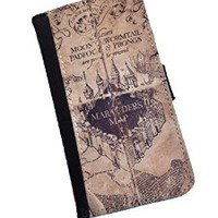 Harry Potter Marauders Map iPhone 6/6s PU Leather Wallet Case By caseOrama fom Texas