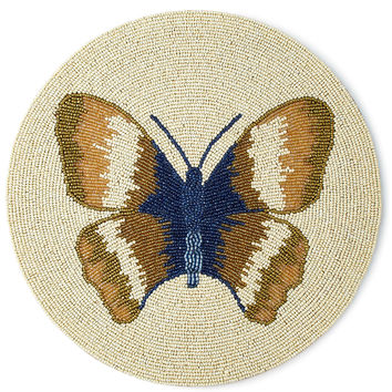 Butterfly Beaded Placemat - Divine Designs USA