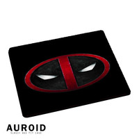 Deadpool Logo Black Mousepad Mouse Pads Auroid
