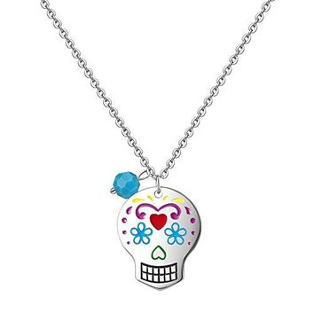 SHIP BY USPS EVBEA Skull Necklace for Women Long Gothic Jewelry Cool Cross Rock Necklaces