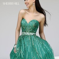 Sherri Hill Short Dress 8522 at Peaches Boutique