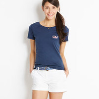 Flag Whale Graphic Pocket Tee