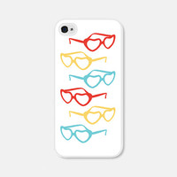 iPhone Case Heart iPhone 5c Case Heart iPhone 5s Case Heart iPhone 4s Case Heart iPhone 5 Case Sunglasses Summer Beach Red Blue Yellow