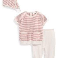 Infant Girl's Burberry Stripe Cotton Three-Piece Baby Gift Set