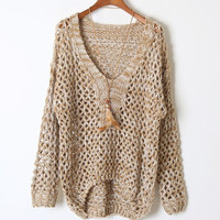Retro Hollow Sweater BADBA