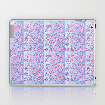 pink polka dot 2- polka dot,pattern,dot,polka,circle,disc,point,abstract,minimalism Laptop & iPad Skin by oldking