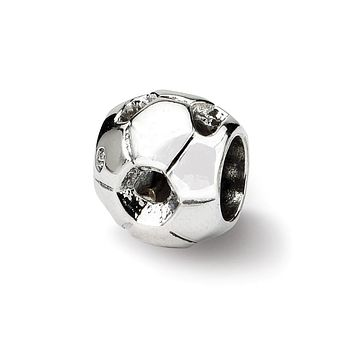 Soccer Ball Charm in Silver for 3mm Charm Bracelets