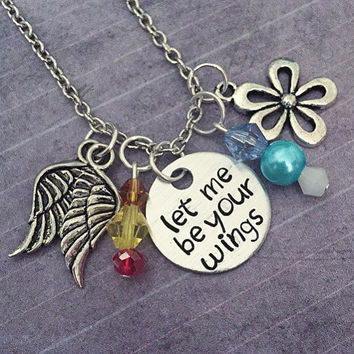Let Me Be Your Wings Necklace - Thumbelina Inspired Necklace - Fairytale Jewelry - Once Upon A Time Jewelry - Thumbelina