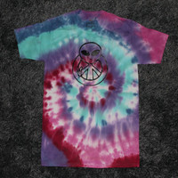 Alien Peace Sign Tie Dye T-Shirt