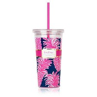 Tumbler with Straw in Flamenco by Lilly Pulitzer