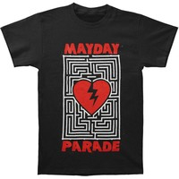 Mayday Parade Men's  Heart Maze T-shirt Black Rockabilia