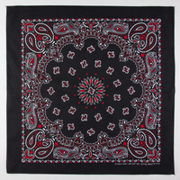 Paisley Bandana Black/Red One Size For Men 22905812601