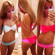 Women Fashion Sexy Bow-knot  strapless Self-tie Trible Bow Beach Triangle  Bikini Set Swimwear = 1956887172