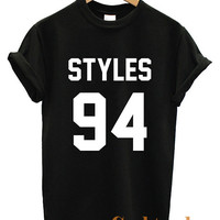 One Direction Shirt Harry Styles 94 Logo Unisex T Shirt tee Size N-1