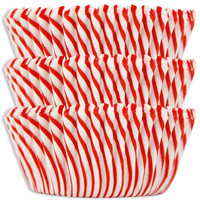 Red Candy Stripe Baking Cups