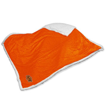 Oklahoma State Cowboys NCAA Soft Plush Sherpa Throw Blanket (50in x 60in)