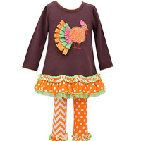 Bonnie Jean 2T-6X Turkey Applique Dress & Matching Printed Leggings | Dillards