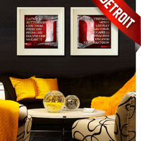 Detroit Red Wings - Old Time Hockey - Combo Art Prints