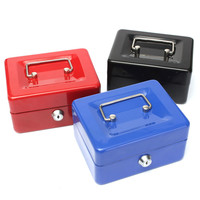 Best Price Stainless Steel Petty Cash Money Box Security Lock Lockable Metal Safe Small Fit For Home Office