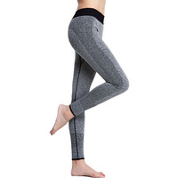 Women's Yoga Pants Sports Elastic Wicking Force Exercise Tights Fitness Running Trousers Slim Leggings
