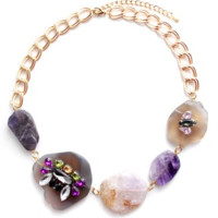 Chunky Stone Link Necklace