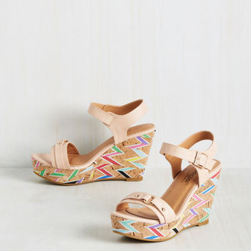 Driven by Optimism Wedge in Rose | Mod Retro Vintage Heels | ModCloth.com