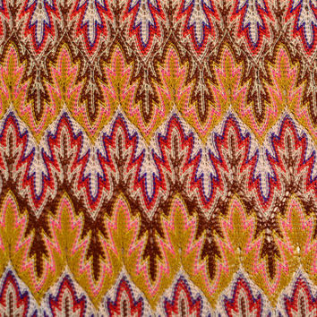 Flame Stitch Missoni Style Knit Fabric Yardage - 4.3 yds material