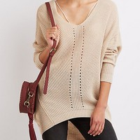 Shaker Stitch Oversized Sweater