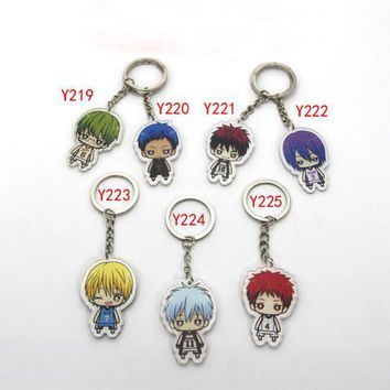 1Pcs/set Cute Kuroko no Basket acrylic Keychain Pendant Car Key Accessories Cute Japanese Cartoon Kuroko's Basketball