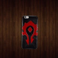 Black Logo Horde WoW World of Warcraft iphone 4 5 5c 6 6plus, samsung S4 S5 case