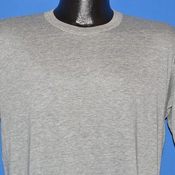 80s Blank Gray Heathered Rayon Tri Blend t-shirt Large