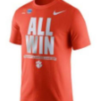V0NE05TF NCAA Clemson Tigers All Win Fiesta Bowl T-Shirt