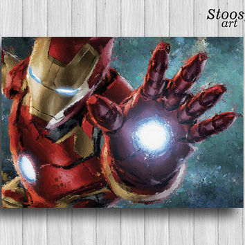 Iron Man print avengers wall decor marvel poster