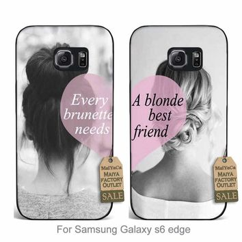 MaiYaCa BFF best friends girly  Luxury High-end phone Accessories couple For Samsung Galaxy s6  edge case
