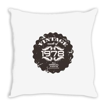 vintage made of 1978 all original parts Throw Pillow