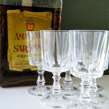 Gorgeous Short Stemmed Cordial-Apertif-Vodka-Shot Glasses, Perfect for After Dinner, Home Bar, Heavy Cut Crystal