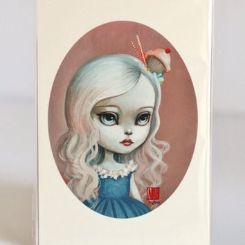 Calpernia Cupcake - Limited Edition signed and numbered 4x6 Mini Fine Art Print -unframed